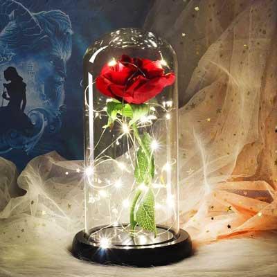 Luksozna roza v staklenica 6