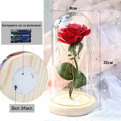 Luksozna roza v staklenica