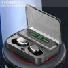 Безжични слушалки с Power Bank кутия и дисплей