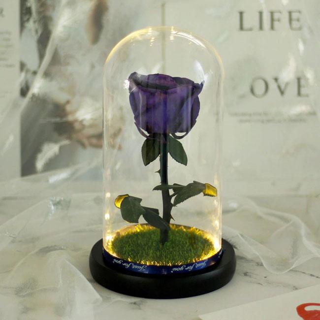 Синя естествена роза