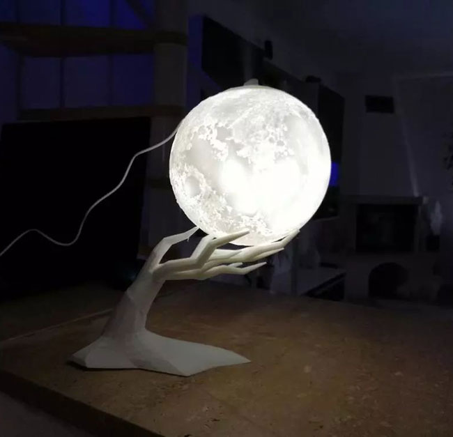 3D Лампа Луна 880мл Арома Дифузер