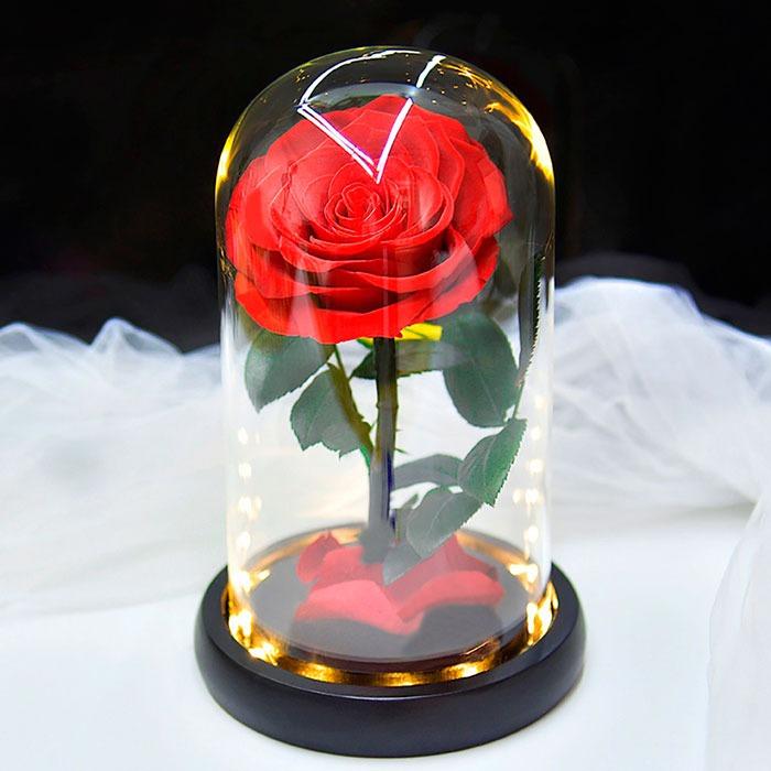 vecna-roza-v-stiklenica-s-podaricna-kutiq-04