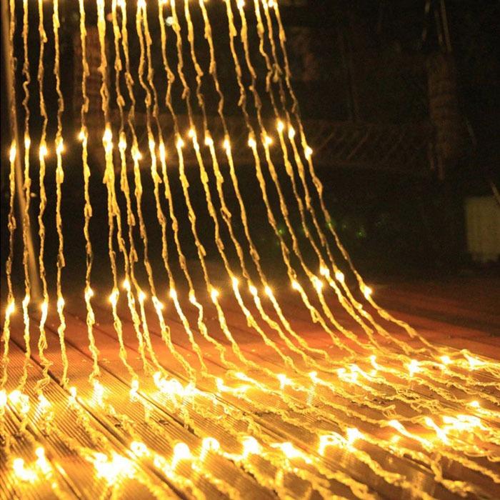 Празнични Лампи Лед Завеса Тип Водопад