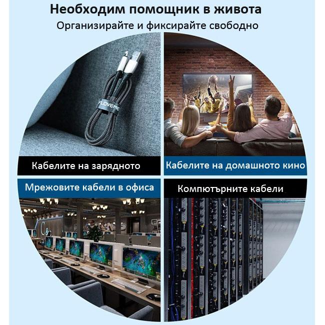 Велкро лента за организиране на кабели