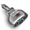 Разклонител за запалка с волтметър и USB
