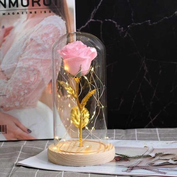 zlatna-roza-v-stiklenica-rozova