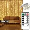 Празнични лампи тип завеса 3х3 метра