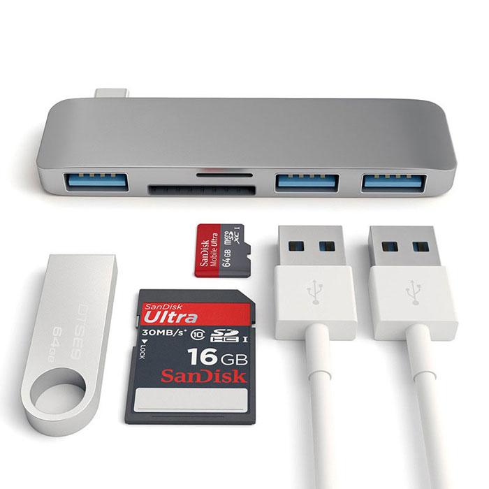 usb-c-hub-adapter-usb-3-1-s-pd-slot-za-sd-i-tf-karti-za-macbook-pro-i-kompyutri-s-usb-c-port