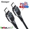 Кабел USB Type C към USB C 60W PD за бързо зареждане