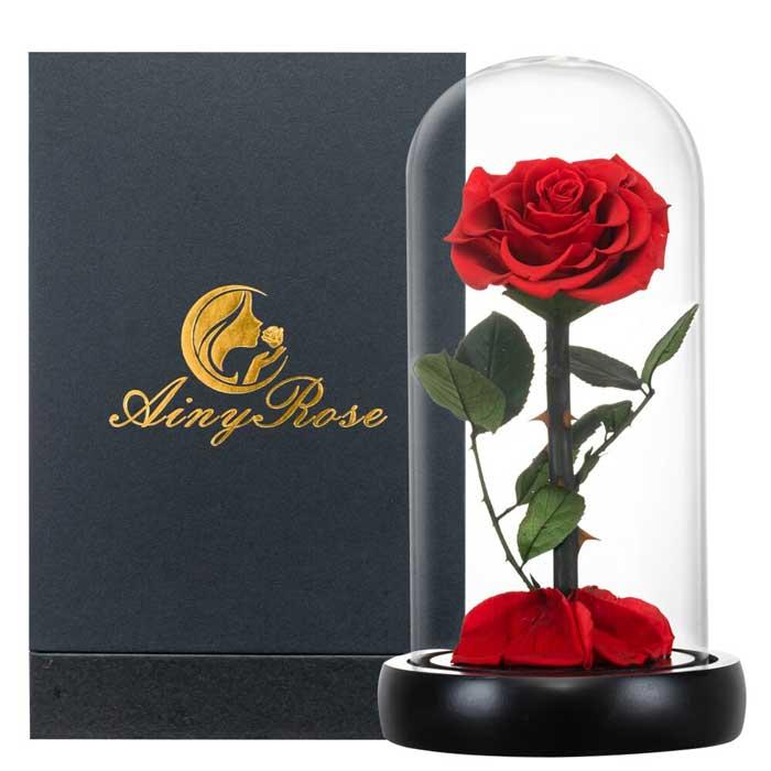 vecna-roza-v-stiklenica-s-podaricna-kutiq-cervena