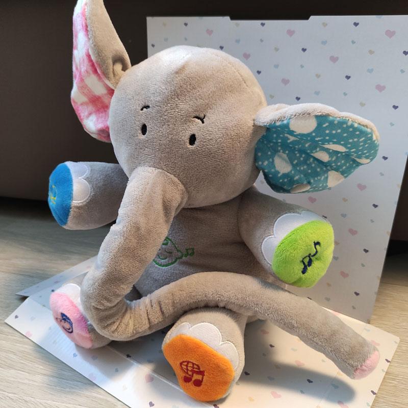 Плюшено слонче - интерактивна музикална играчка