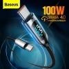 Кабел за зареждане 100W USB Type C и дисплей